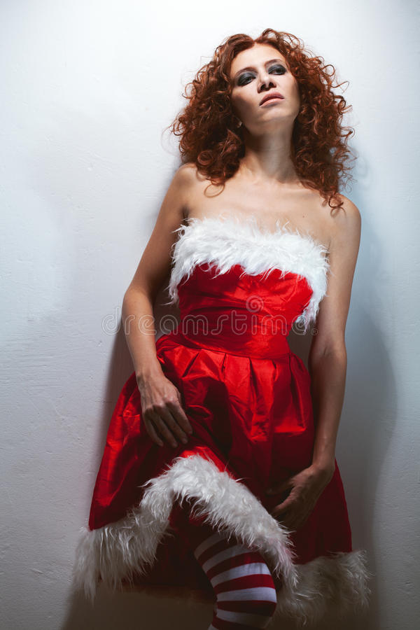Download Fatigue redheaded woman stock photo. Image of looking - 27475346