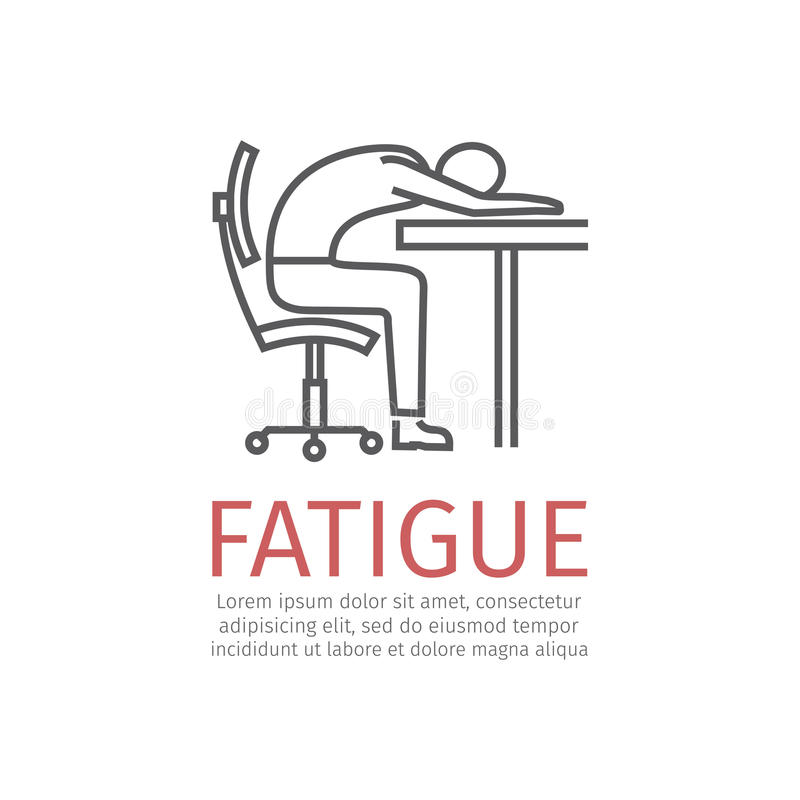 Fatigue. Sign. Vector icon for web graphic royalty free illustration