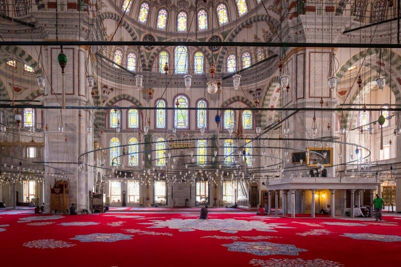 Fatih meczet, Istanbuł wnętrze fotografia royalty free