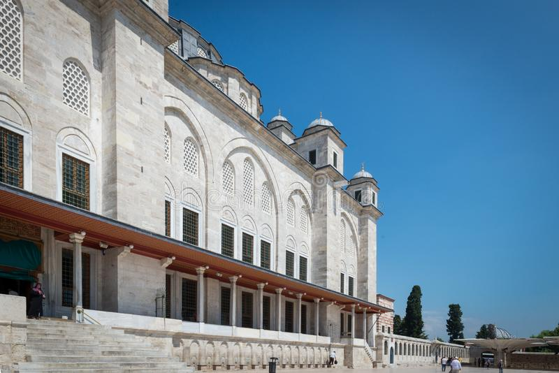 Fatih Mosque, Istanboel stock foto
