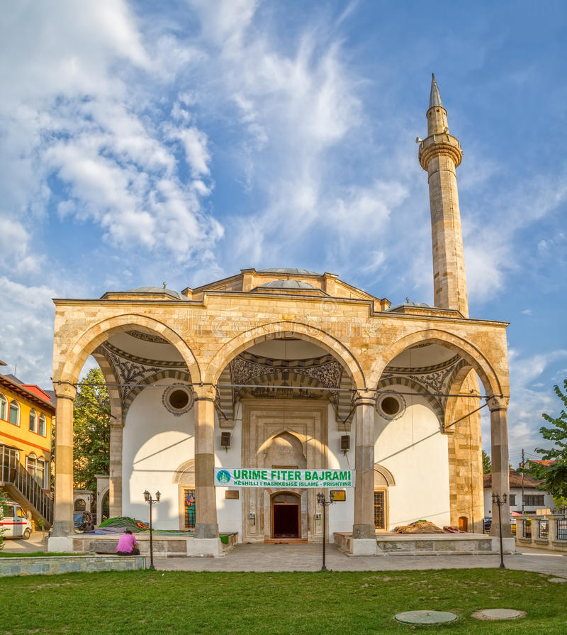 Fatih Mosque in Pristina stockbilder