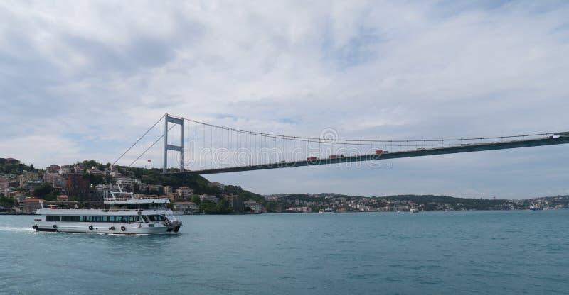 Fatih sułtanu Mehmet most - Po drugie Bosphorusbridge w Istanbuł, Turcja zdjęcie stock