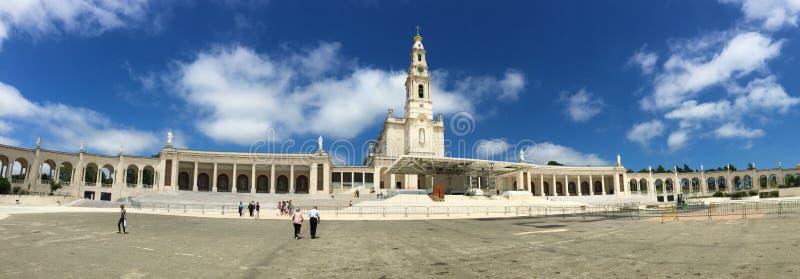 Fatima is één van de belangrijkste katholieke heiligdommen stock afbeeldingen