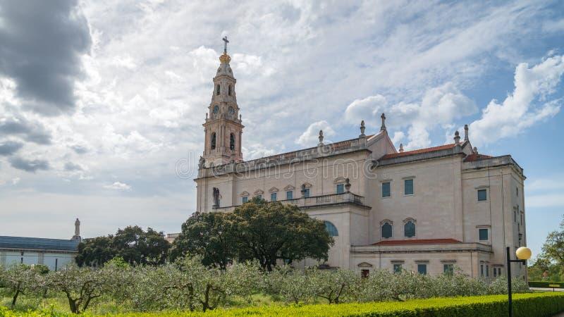 fatima ・葡萄牙圣所 重要玛丽亚寺庙和朝圣地点世界的天主教徒的 免版税库存图片