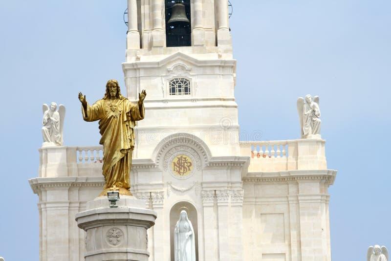 Fatima Basilica royaltyfri foto