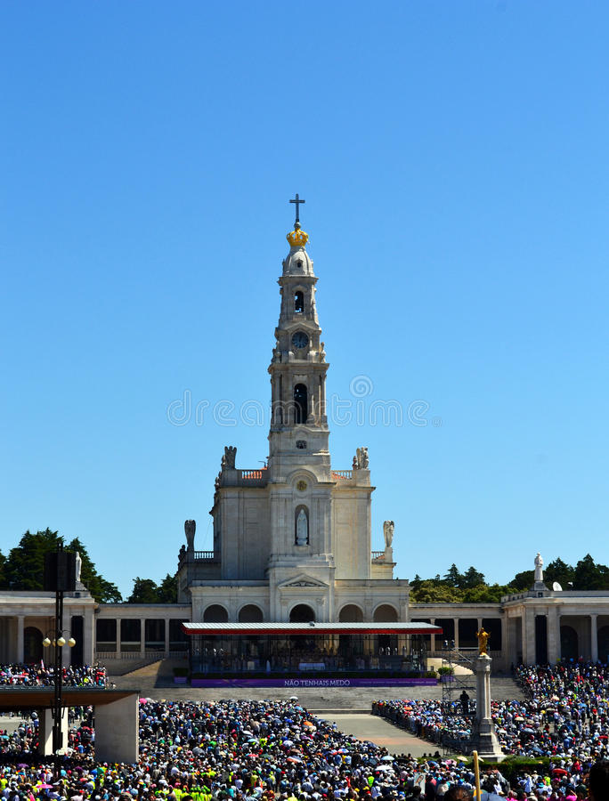 Fatima Sanctuary och vallfärdar arkivbilder