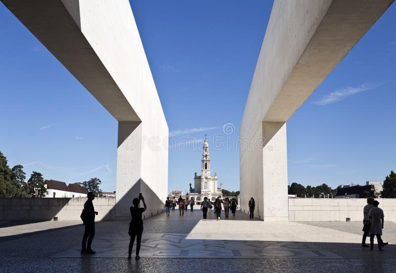 Fatima Shrine av vår dam av radbandet royaltyfri bild