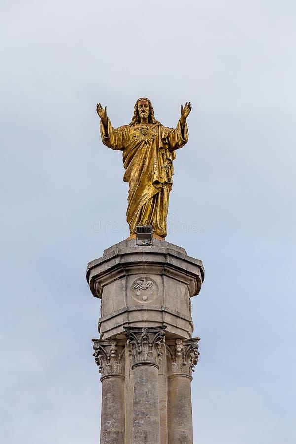 Fatimas monument av den sakrala hjärtan av Jesus royaltyfri fotografi