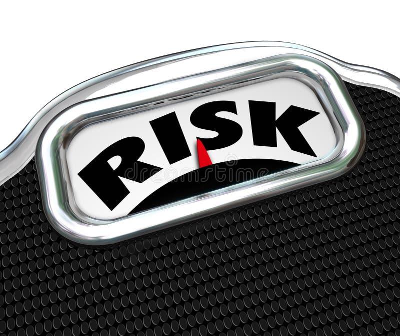 Fatores excessos de peso da doença da obesidade da escala da palavra do risco ilustração royalty free