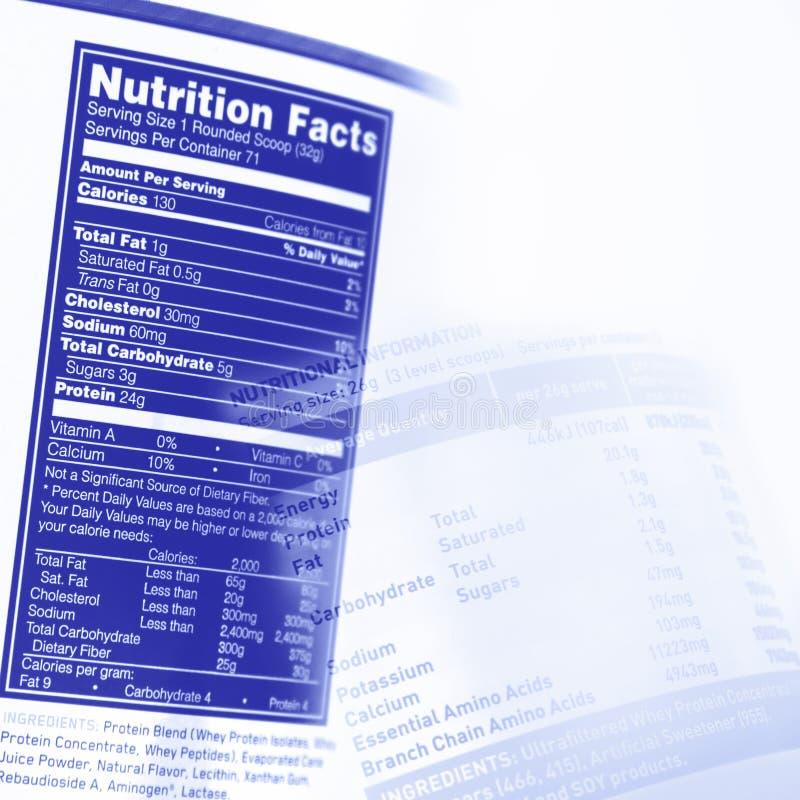 Fatos da nutrição fotografia de stock