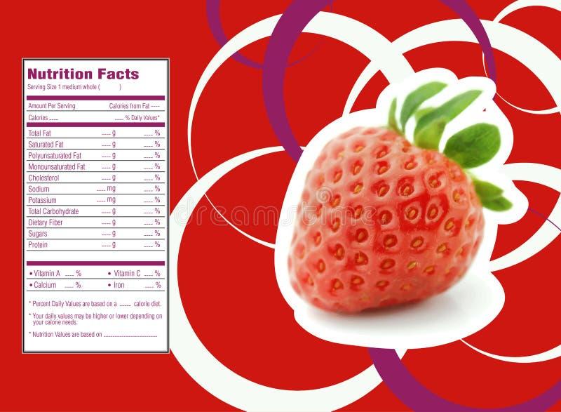 Fatos da nutrição das morangos ilustração do vetor