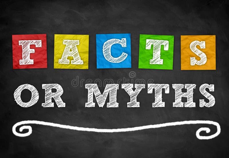 Fatos ou mitos fotografia de stock