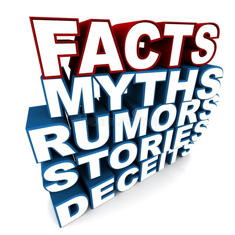 Fatos sobre mitos ilustração do vetor