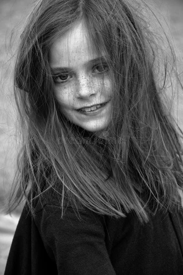 Fattig flicka arkivbilder