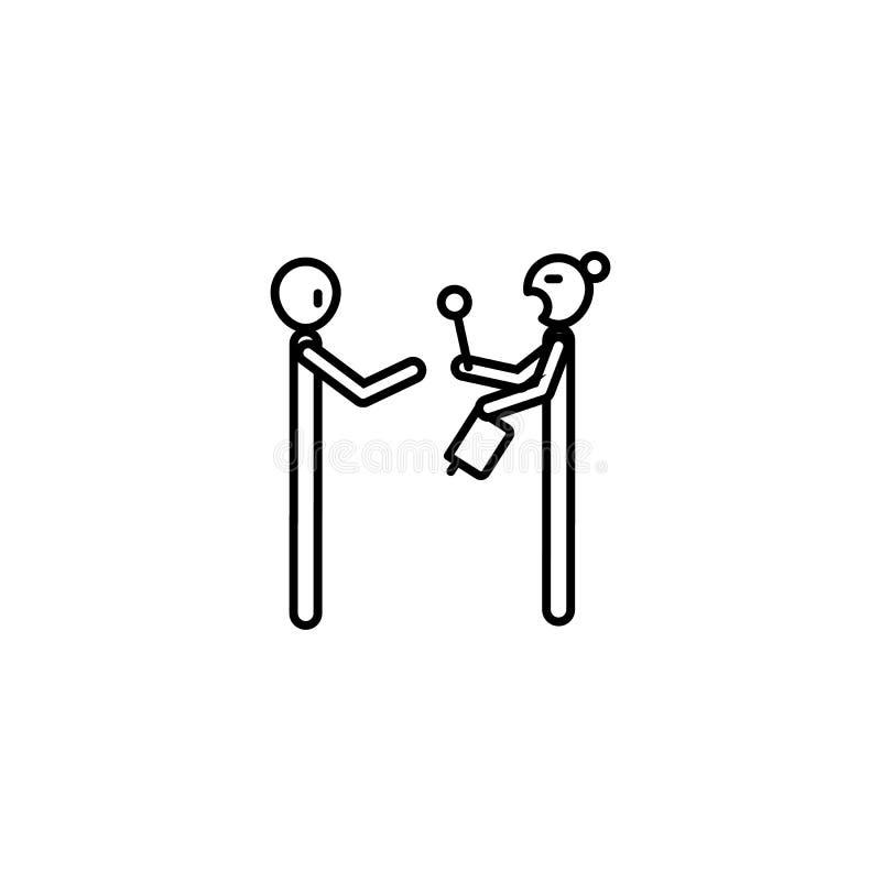 Fattig man och fattig kvinnasymbol Beståndsdel av symbolen för socialt liv för armod för mobila begrepps- och rengöringsdukapps G vektor illustrationer