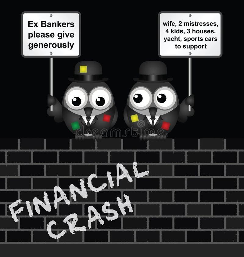 Fattiga bankirer vektor illustrationer