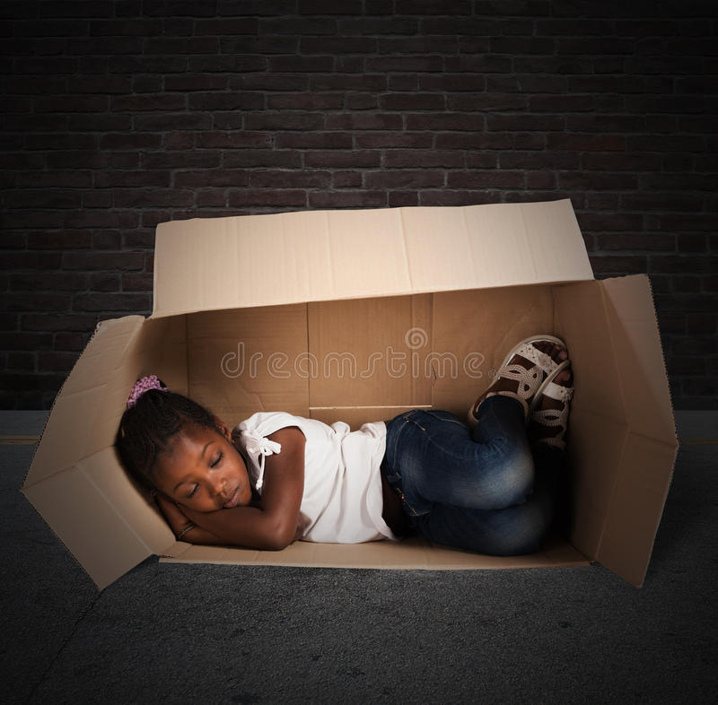 Fattigt barn royaltyfri bild