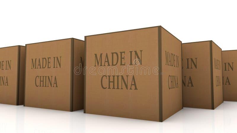 Fatto in cartone della porcellana illustrazione di stock