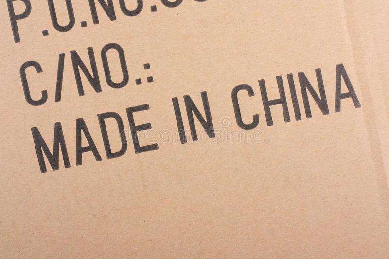 Fatto in Cina immagini stock