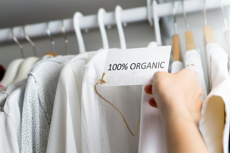 Fatto dei materiali organici di 100% fotografie stock