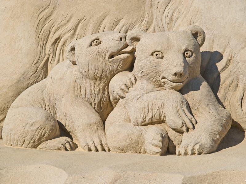Fatto della sabbia immagini stock