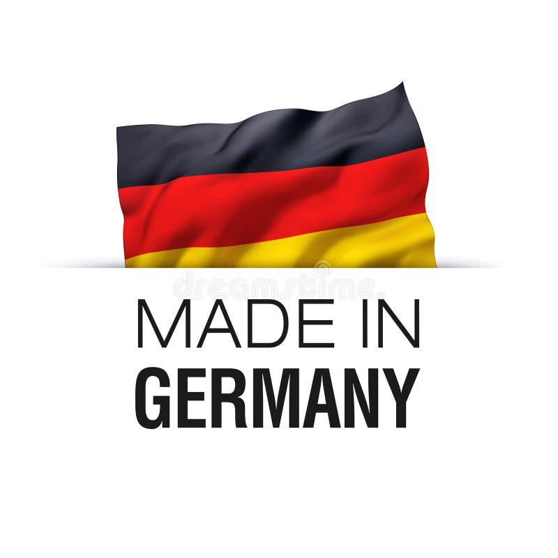 Fatto in Germania - etichetta illustrazione di stock