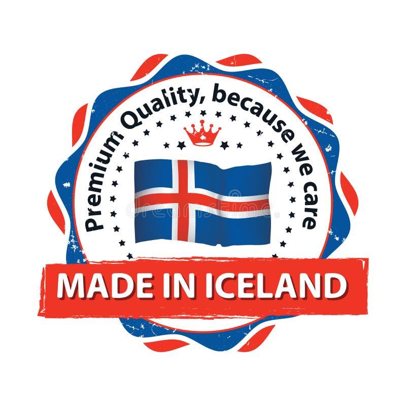Fatto in Islanda, marchio di qualità premio illustrazione di stock