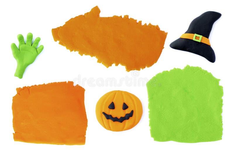 Fatto a mano isolato insieme di Halloween illustrazione di stock