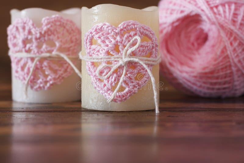 Fatto a mano lavori all 39 uncinetto il cuore rosa per la for Lavori all uncinetto per altari