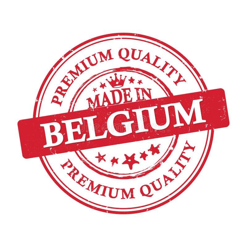 Fatto nel Belgio, marchio di qualità premio illustrazione vettoriale
