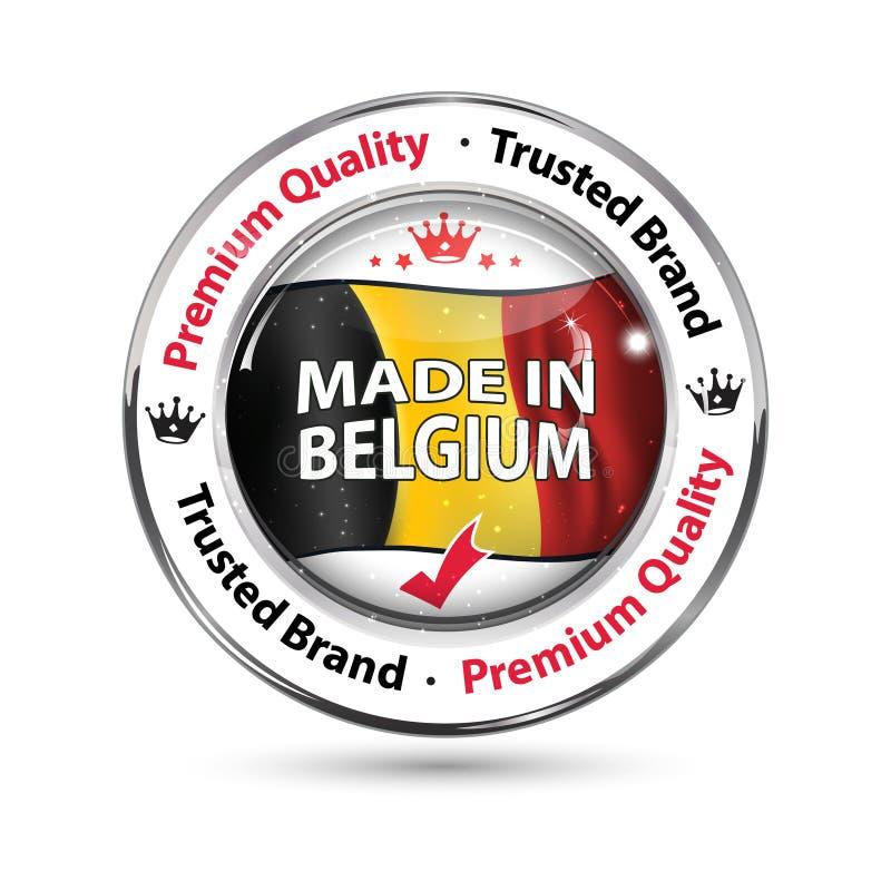 Fatto nel Belgio, qualità premio illustrazione vettoriale