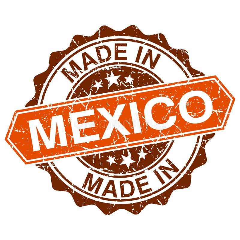 fatto nel bollo d'annata del Messico royalty illustrazione gratis