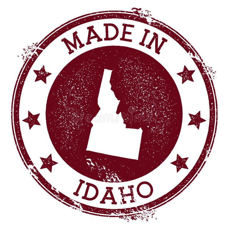 Fatto nel bollo dell'Idaho royalty illustrazione gratis