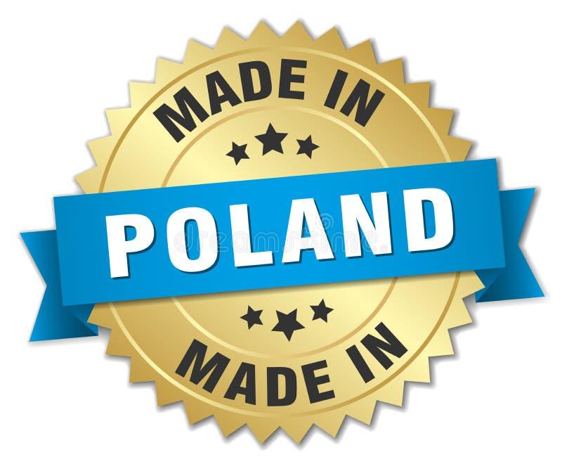 Fatto nel distintivo della Polonia illustrazione di stock