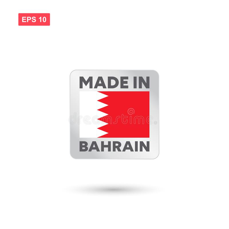 Fatto nel vettore della Bahrain illustrazione di stock