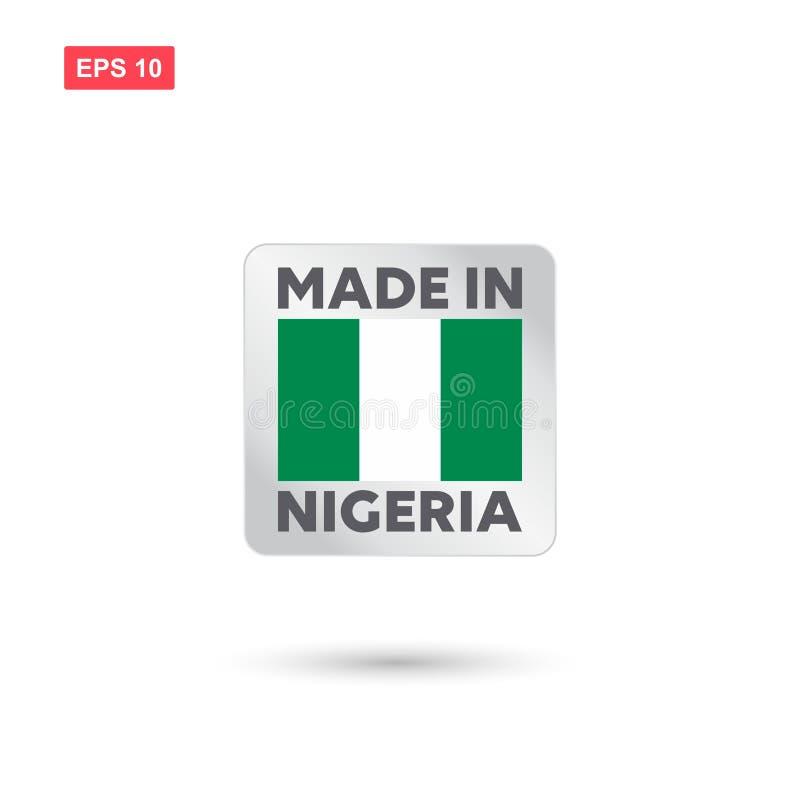 Fatto nel vettore della Nigeria royalty illustrazione gratis