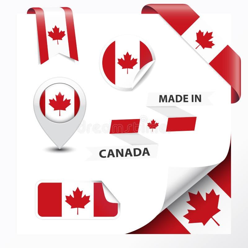 Fatto nella raccolta del Canada illustrazione di stock