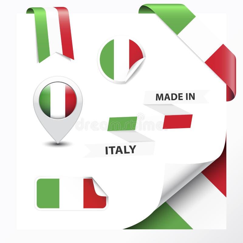 Fatto nella raccolta dell'Italia illustrazione di stock