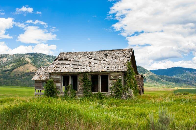 Fattoria abbandonata dell'Idaho fotografia stock