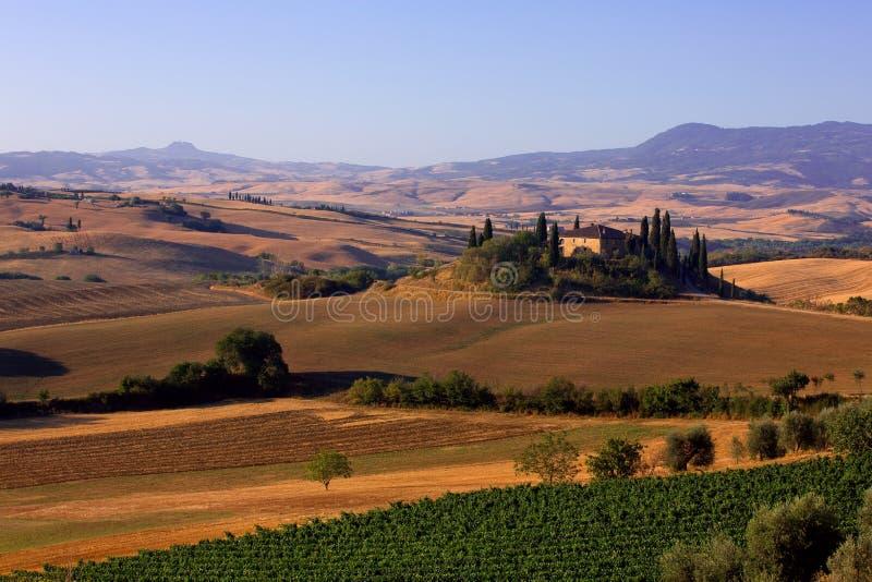 Fattoria in Toscana immagine stock