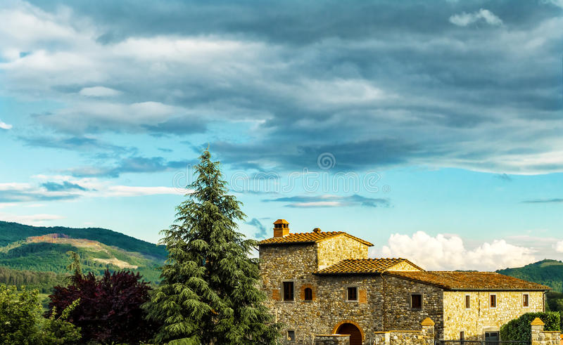Fattoria in Toscana fotografia stock