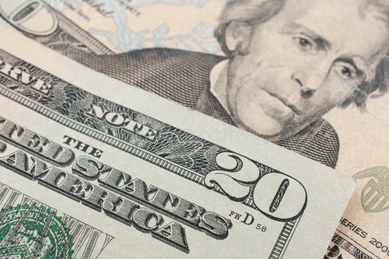 fattura del dollaro 20 fotografia stock libera da diritti