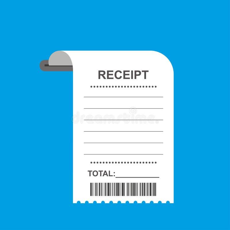Fattura della carta della fattura della ricevuta, modello di progettazione illustrazione vettoriale