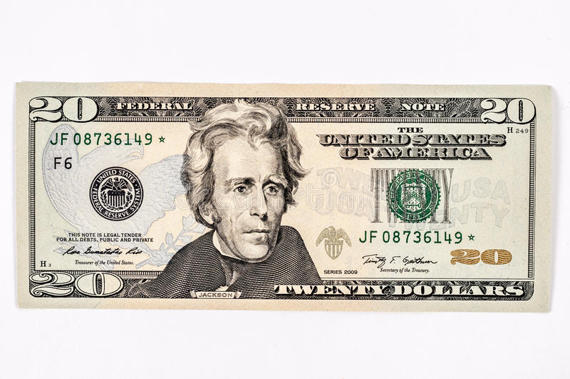 Fattura di dollaro americano 20 fotografie stock