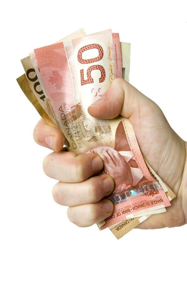 Fatture del dollaro canadese fotografia stock libera da diritti