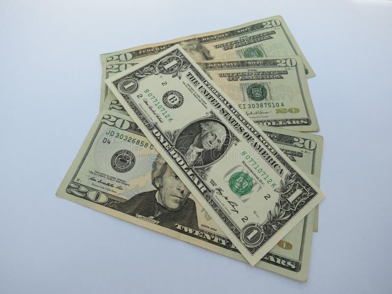 20 fatture di dollaro americano immagine stock libera da diritti
