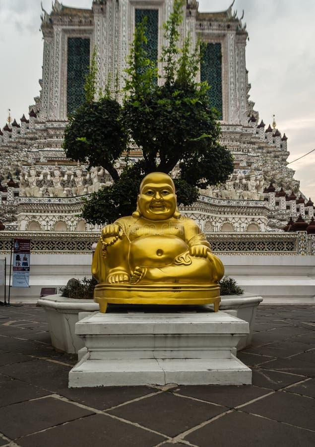 Fatty buddah in Wat Arun temple- Bangkok royalty free stock photography