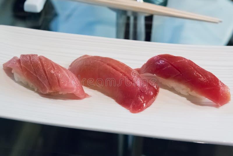 Fatty Toro Sushi royalty free stock photography