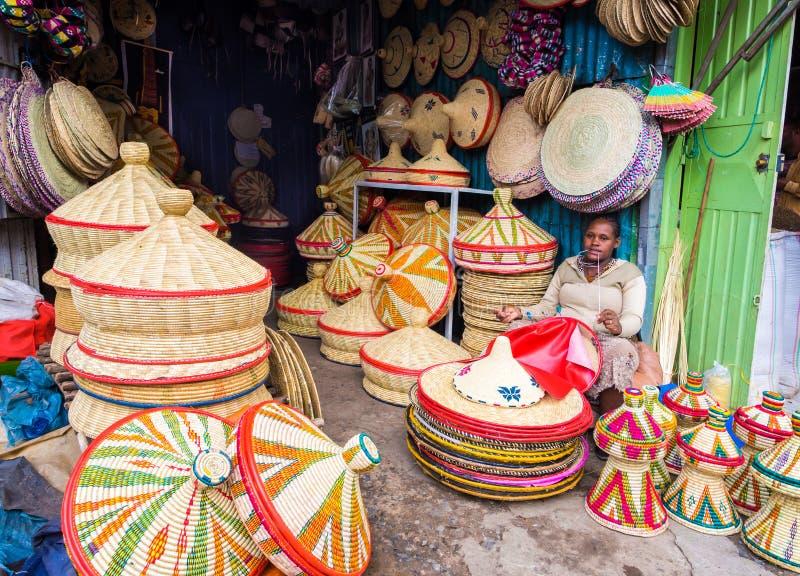 Fatura de cestas de Habesha imagem de stock
