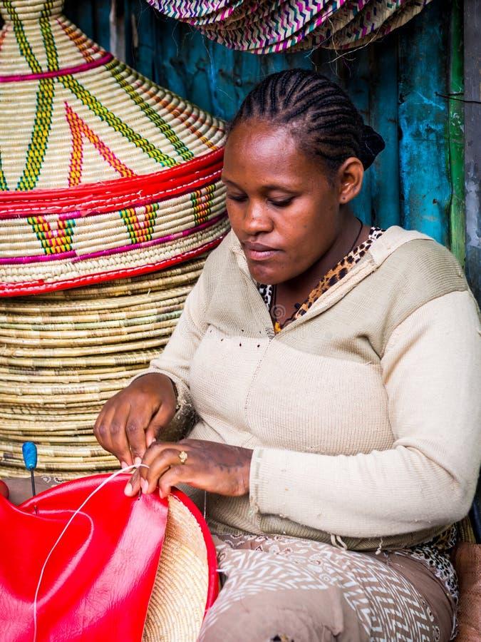 Fatura de cestas de Habesha foto de stock